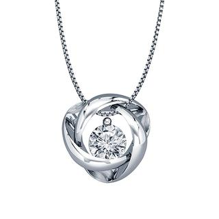 Sterling silver diamond eternity pendant