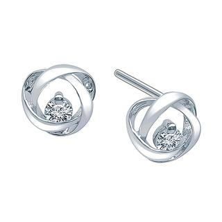 Sterling silver eternity stud earrings
