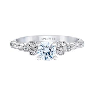 Charlotte white gold engagement ring