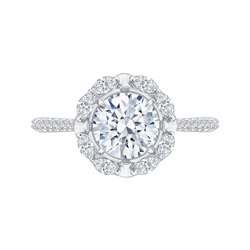Carizza Engagement Ring-Semi-Mount